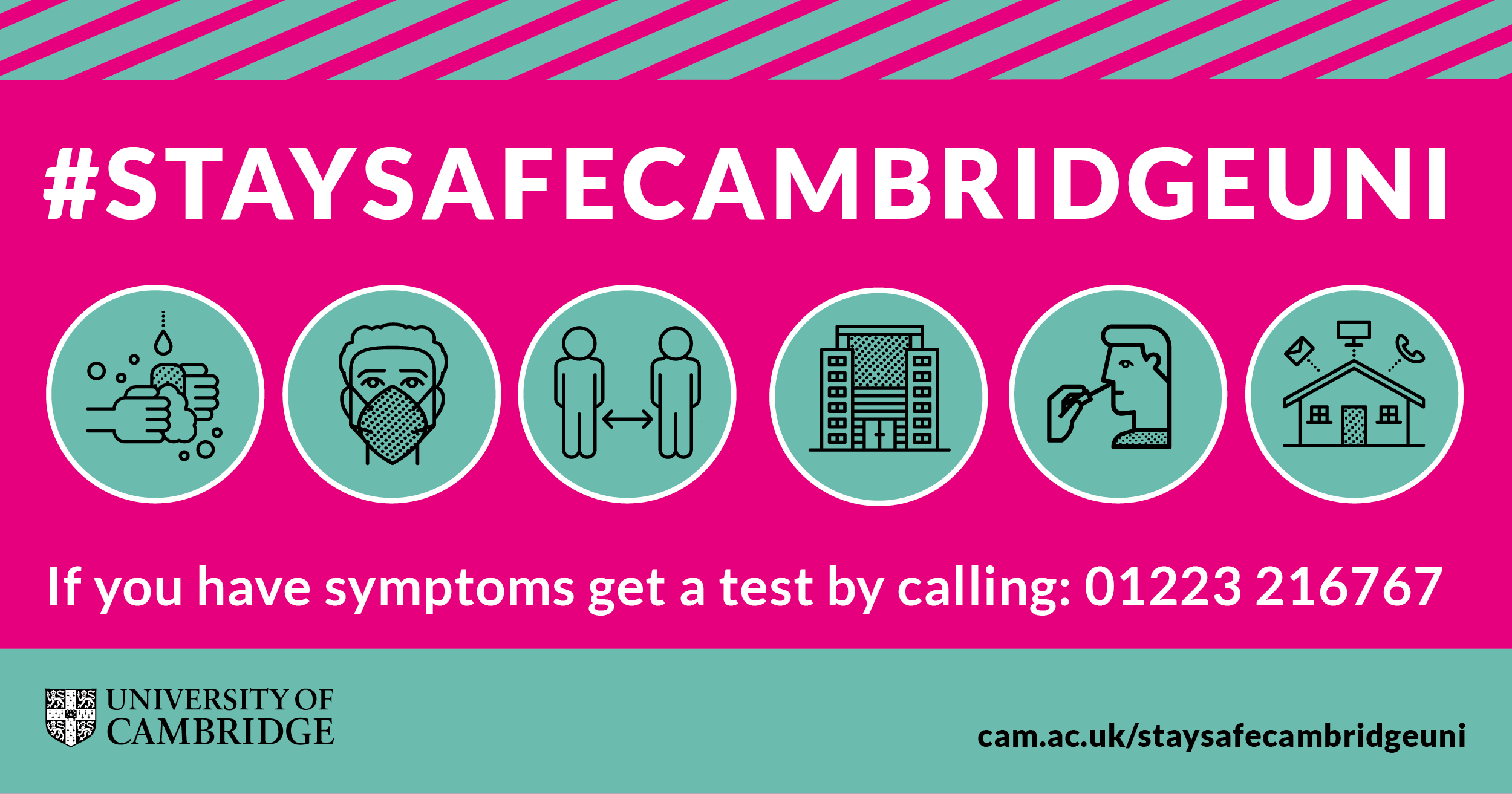 Image of 'Stay Safe Cambridge Uni' public health campaign launched