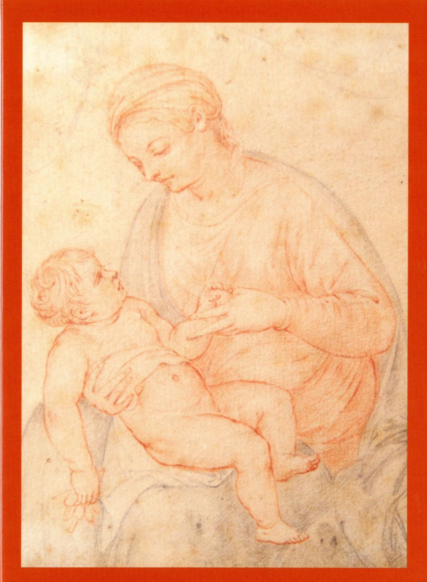 'Madonna and Child', crayon drawing by Adriaen van der Werff (1659-1722). Christmas card 2016.