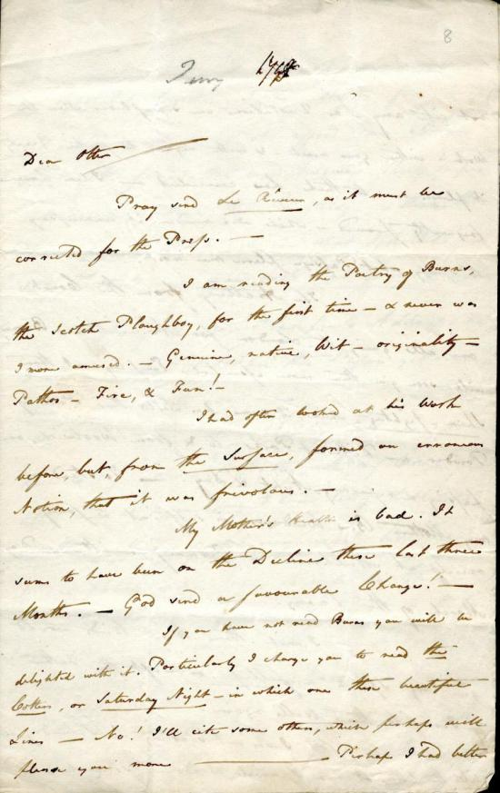 Clarke letter to Otter, 23rd January 1798, p1
