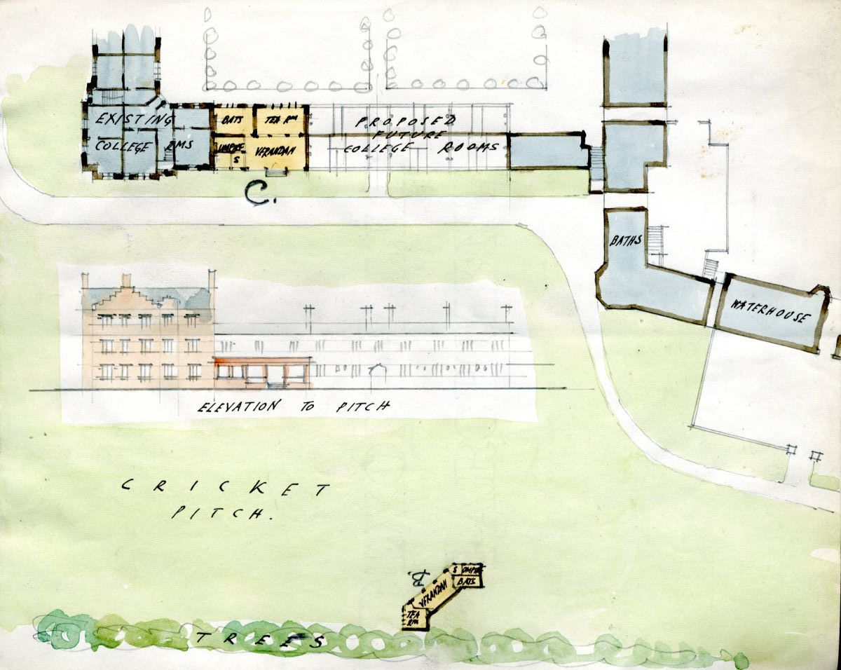 Unrealised scheme for the cricket pavilion
