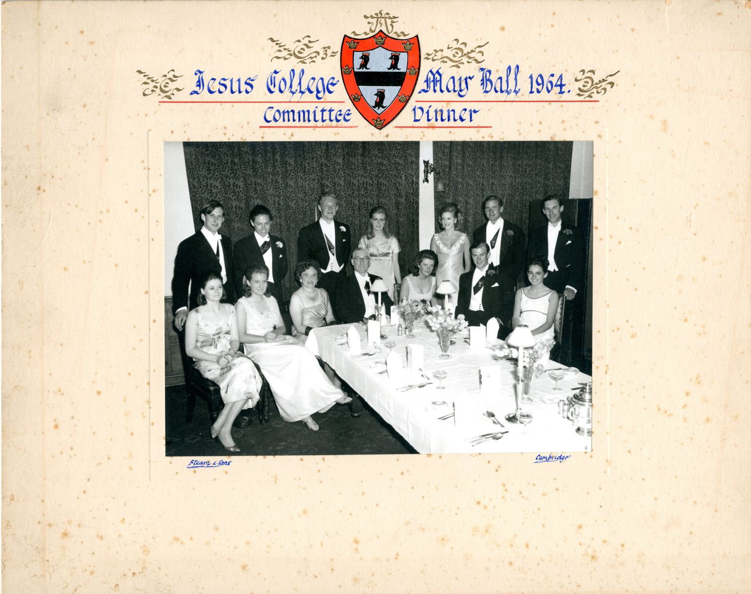 May Ball Committee dinner 1964
