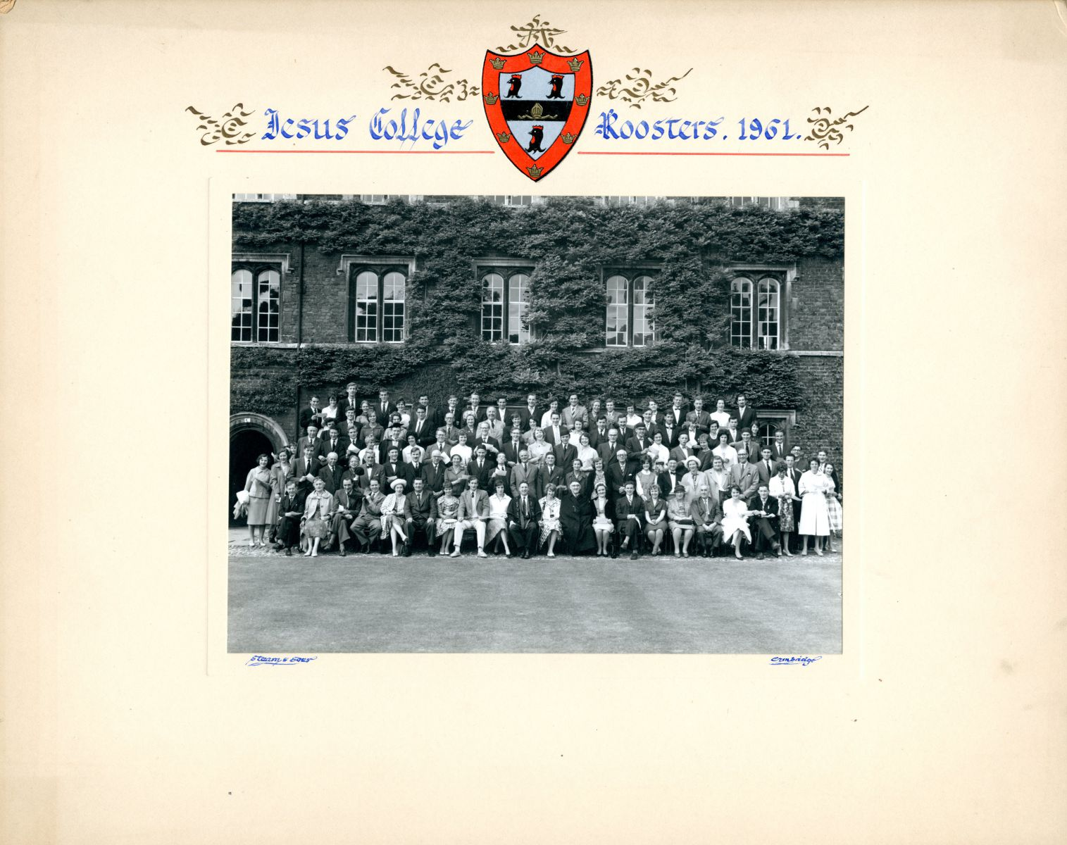 Jesus College Roosters 1961