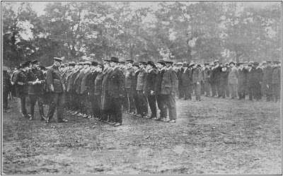 Sportsman's battalion on parade Oct. 1914
