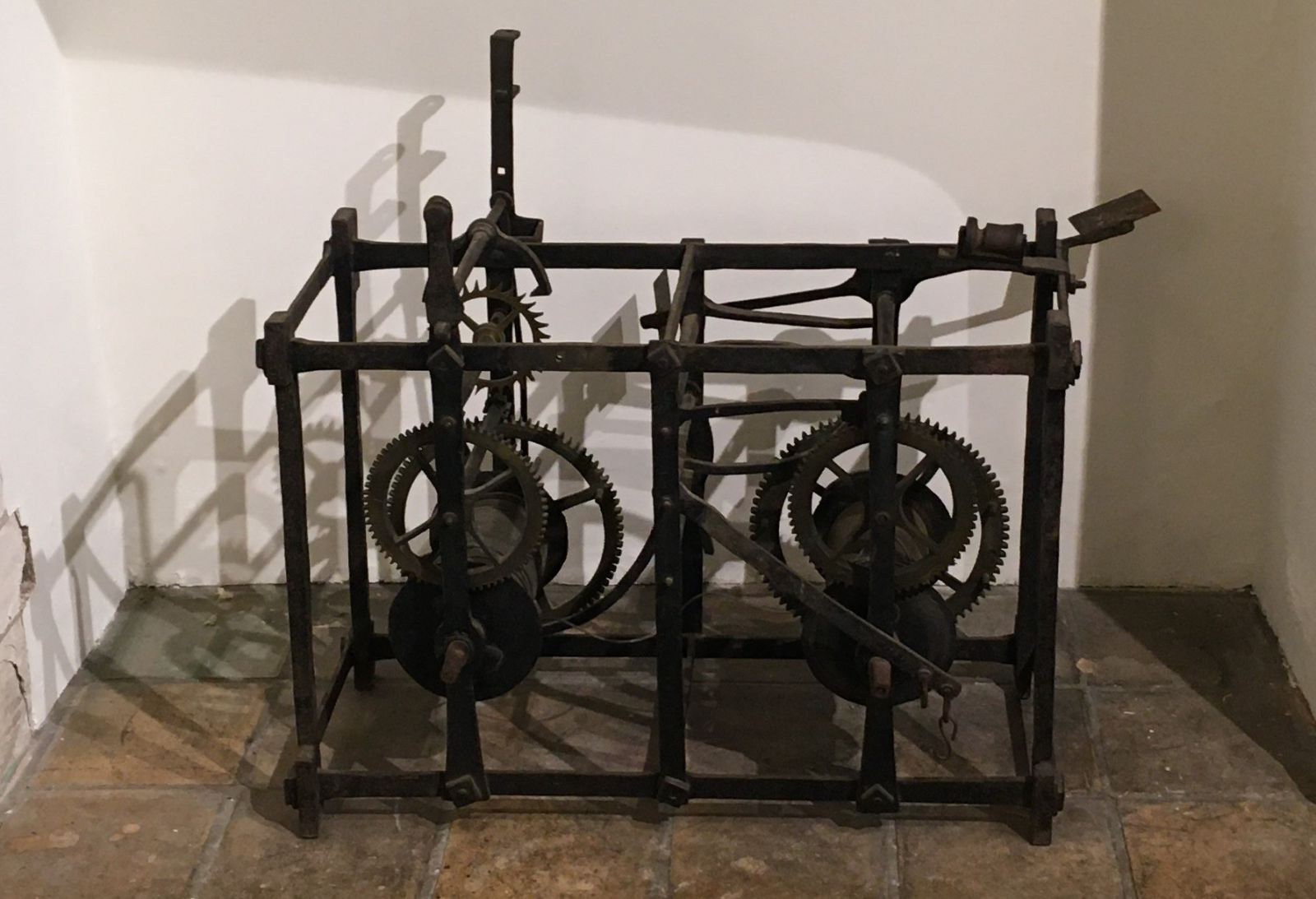 Clock mechanism from Foxton Church