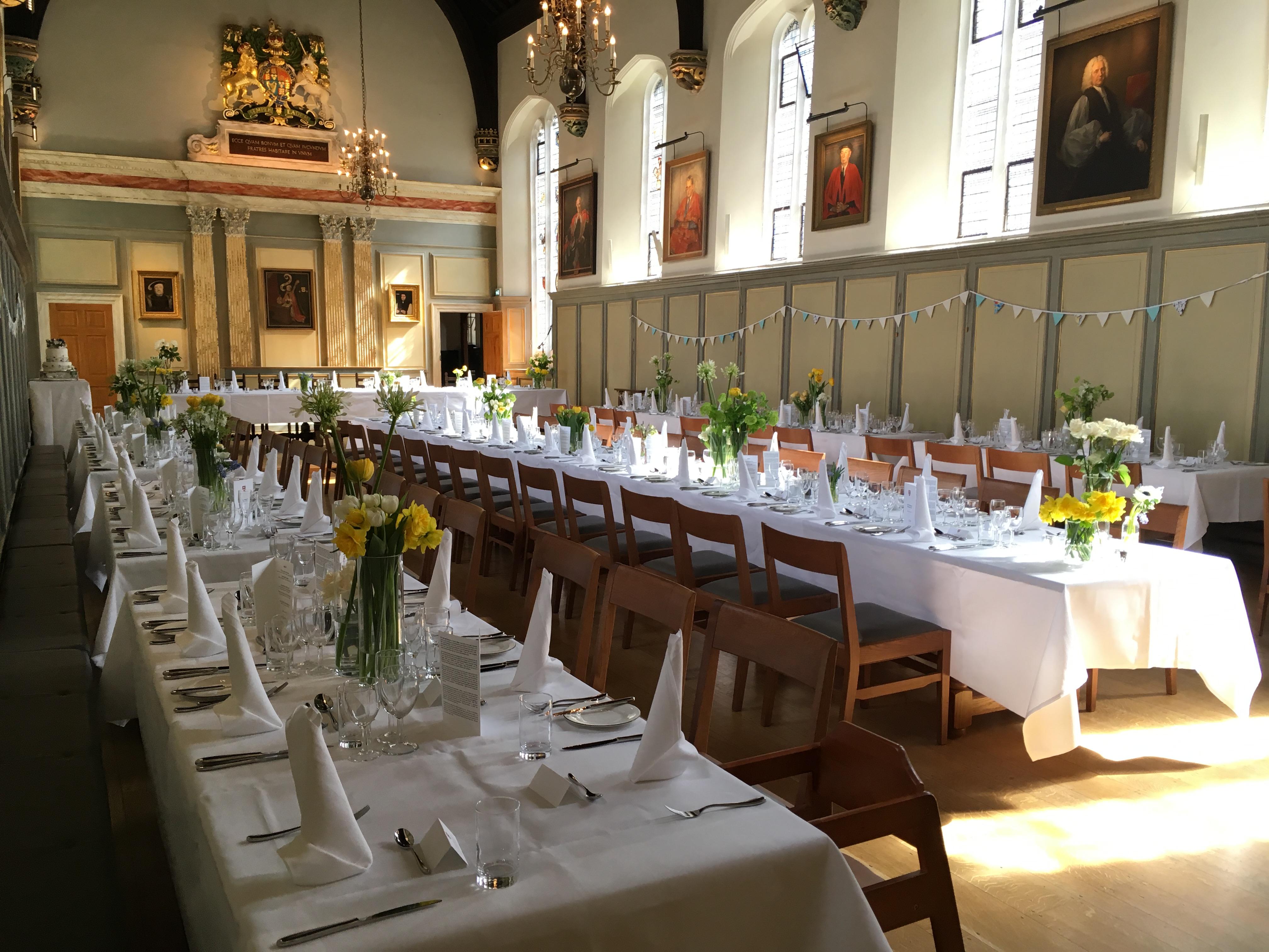 Wedding Breakfast Jesus College In The University Of Cambridge
