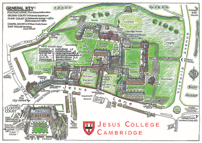 St Anselm Campus Map.Contact Jesus College In The University Of Cambridge
