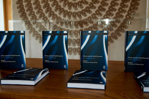 Photo of book display for China in the World Economy: Transition and Challenges