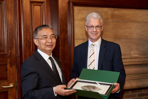 The Master, Jesus College and DRC Vice President Zhang Laiming