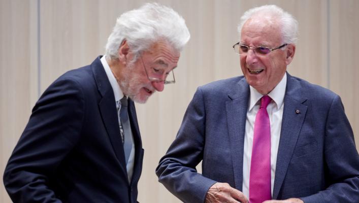 Photo of Professor Peter Nolan and Professor Sir Brian Heap