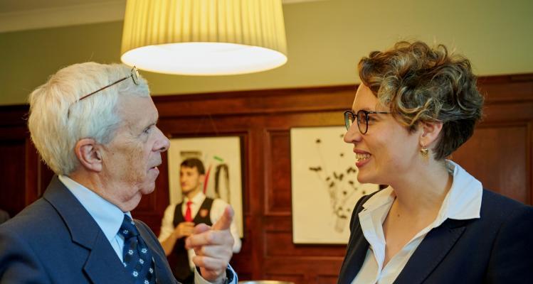 Photo of Professor Robert Ash and Assistant Professor Isabella Weber