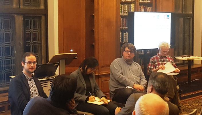 Dr Paul Anderson, Professor Huaichuan Rui, Professor Magnus Marsden and Professor Peter Nolan