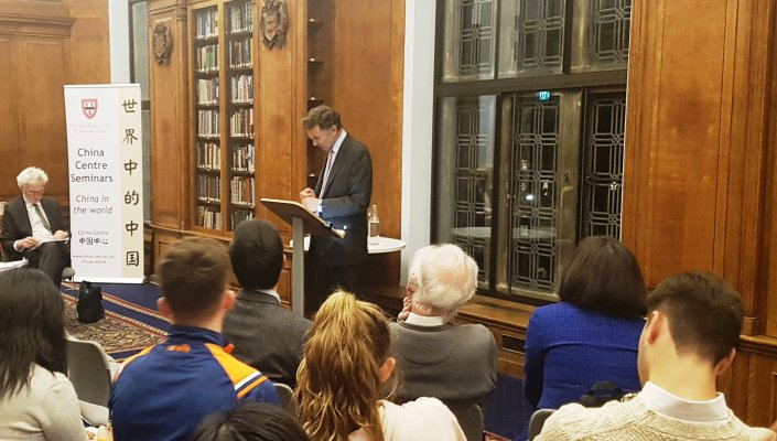 Photo of Lord Green delivering his lecture