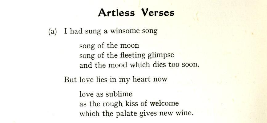 Artless verses from Michaelmas 1940 Chanticlere p1