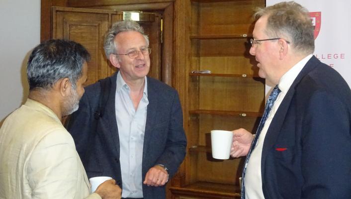 Photo of Dr Siddharth Saxena, Professor Sir Richard Friend and Professor Peter B Littlewood