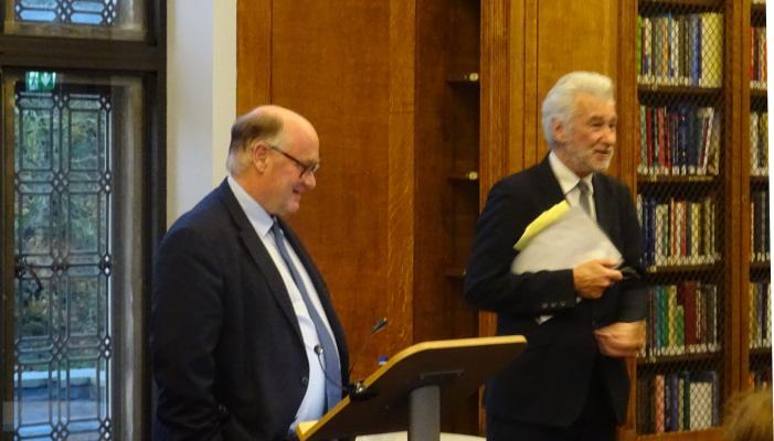 Photo of Sir Douglas Flint and Prof Peter Nolan