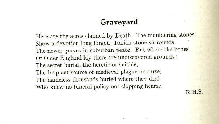 Graveyard from Lent 1940 Chanticlere