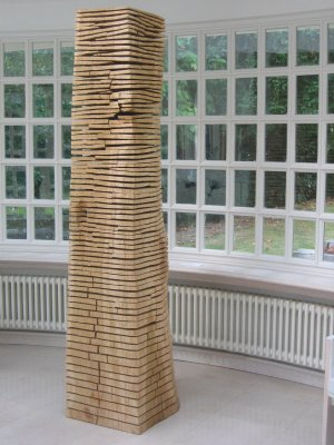 Crack Warp Column Oak by David Nash