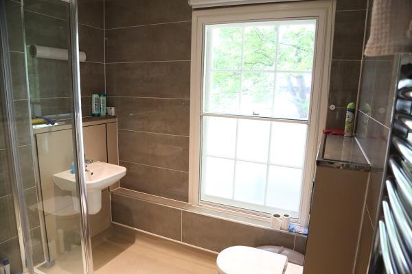 A bathroom in a shared house