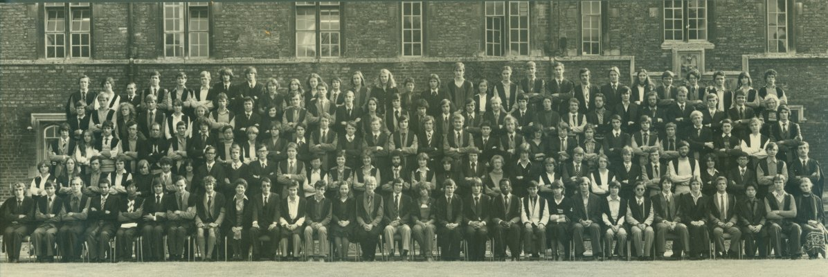 1979 matriculation photograph showing the first intake of female undergraduates