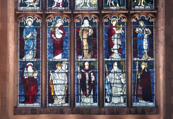Section of the Great South window in Jesus College Chapel