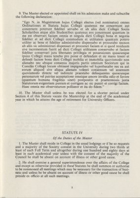 Extract from 1976 Statutes (ref: JCGB/4/3/17)