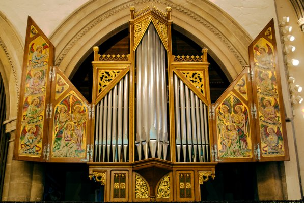 Sutton Organ pipes and artwork