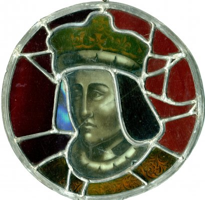 Roundel showing head of Henry VI or Henry VII