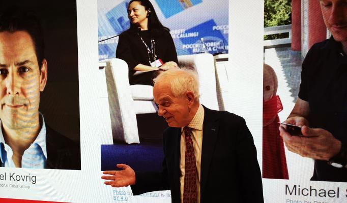 Photo of John McCallum delivering his lecture