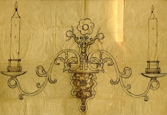Sconce design with flower