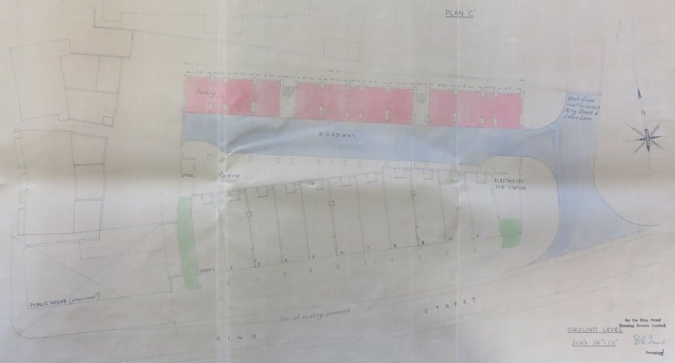 Plan from copy of building lease of premises fronting King Street