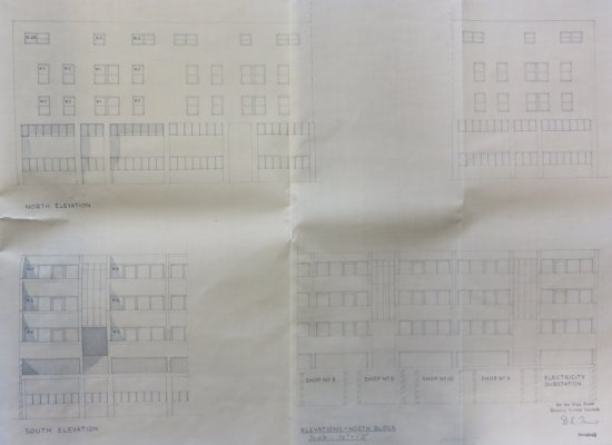 Elevation from copy of building lease of premises fronting King Street