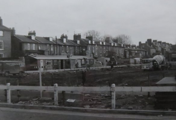 Photograph taken of development by Denis Griffiths