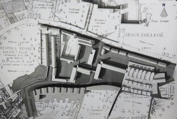 Architects' model of the King Street development