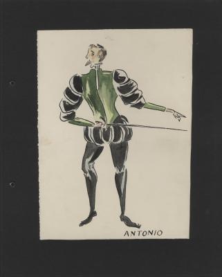 Costume design for Antonio