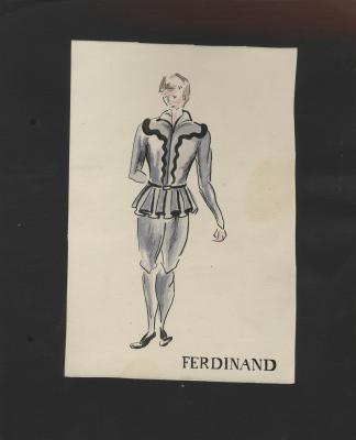 Costume design for Ferdinand