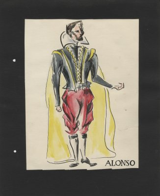 Costume design for Alonso