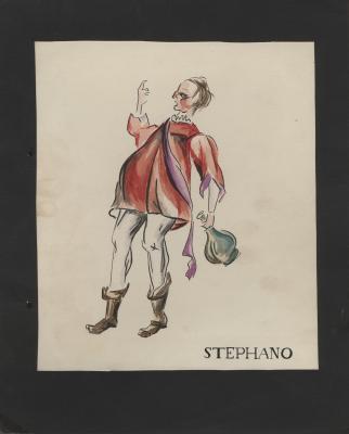 Costume design for Stephano