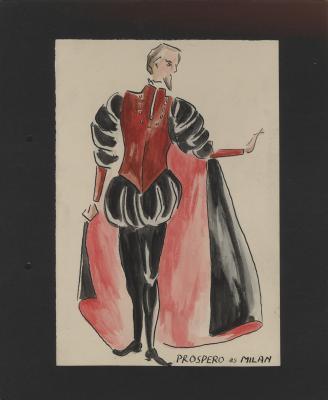 Costume design for Prospero as Milan