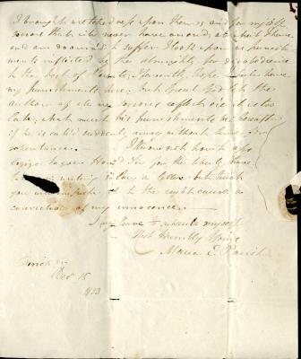 Maria Parish's second letter to William French, p7