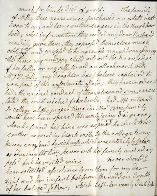 Mary Parish's letter to William French, p2