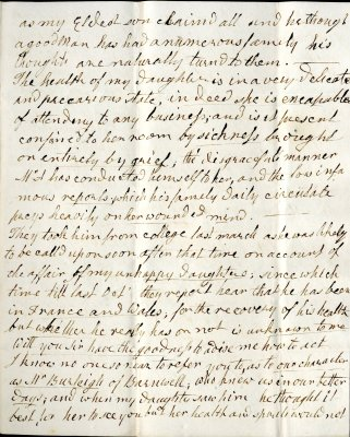 Mary Parish's letter to William French, p3