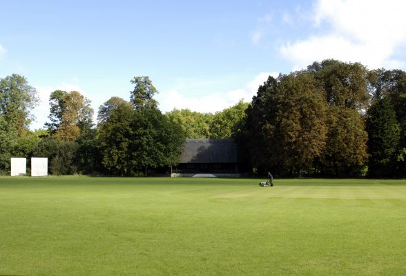 Cricket Pavilion and lawn