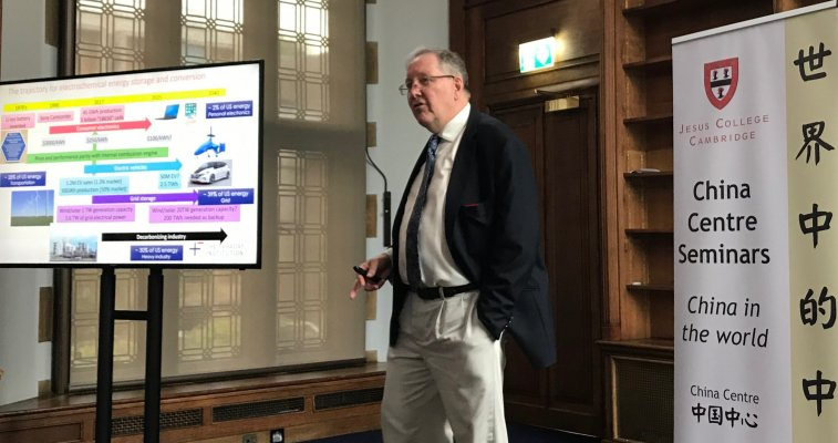 Photo of Professor Peter B Littlewood delivering his lecture