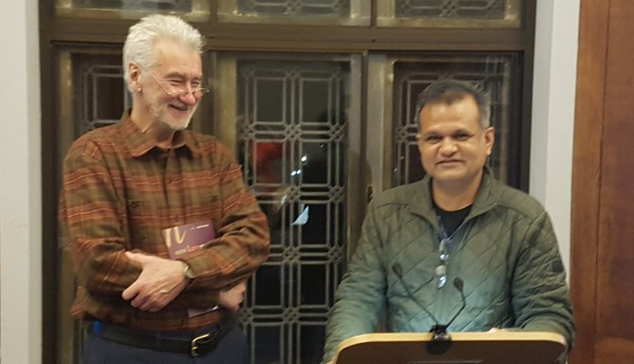Photo of Professor Peter Nolan and Dr Siddharth Saxena