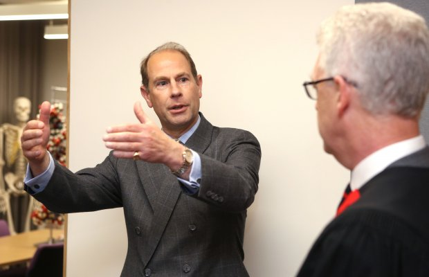 HRH The Earl of Wessex and Professor Ian White, Master of Jesus College