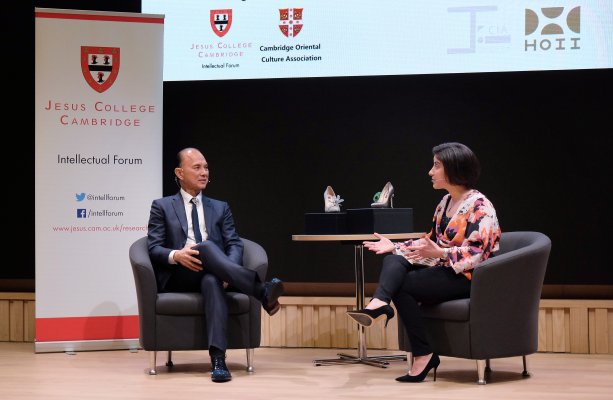 Professor Datuk Jimmy Choo OBE in conversation with Nicky Shepard, Director of Cambridge Style Week