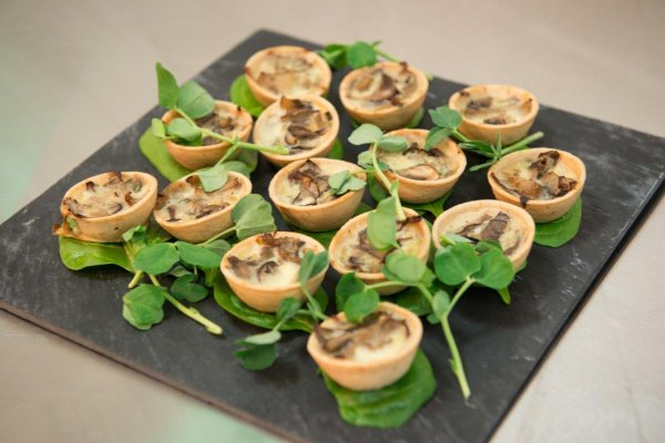 Canapes in the Bawden room
