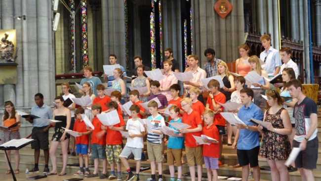 Photo of Choir rehearsing in Lille Cathedral