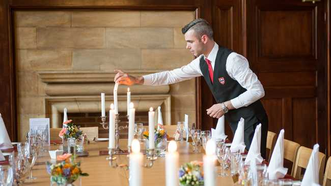 Image of Table setting with candles
