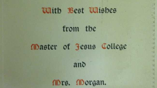 Image ofArchive of the month: Jesus College Christmas Cards